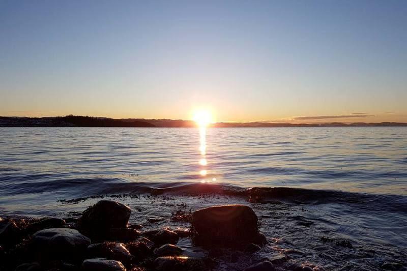 Koa Camping Inderoy ondergaande zon