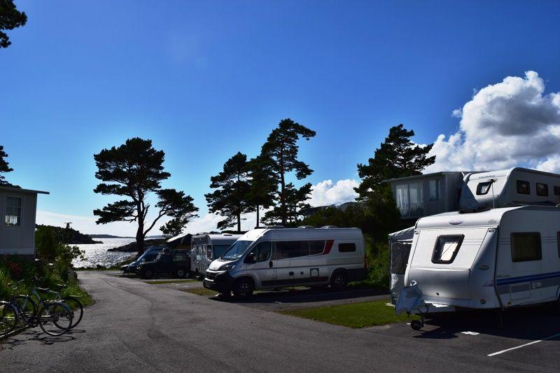 Kristiansand Feriesenter kampeerplaatsen