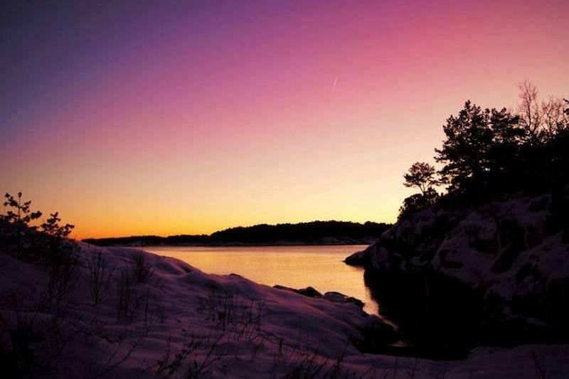 Kristiansand Feriesenter ondergaande zon