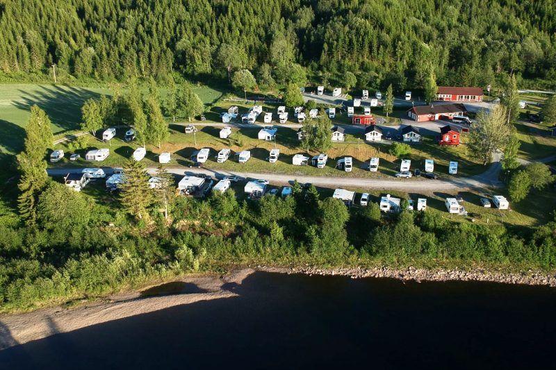 Langnes Camping Grong ligging