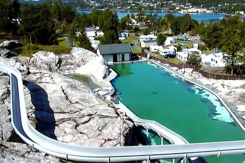 Lovisenberg Familiecamping zwembad met glijbaan