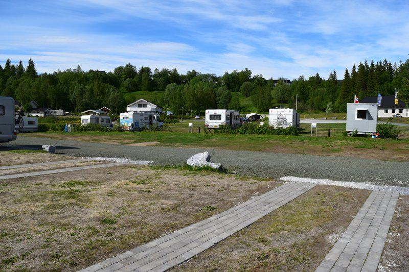Mo i Rana Camping ruime verharde plaatsen
