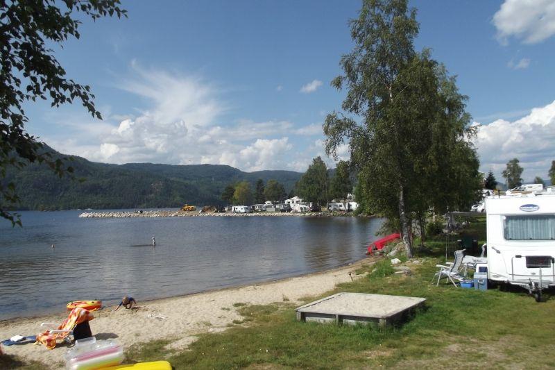 Neset Camping Byglandsfjord strandje