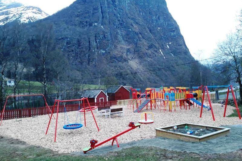 Oldevatn Camping grote speeltuin