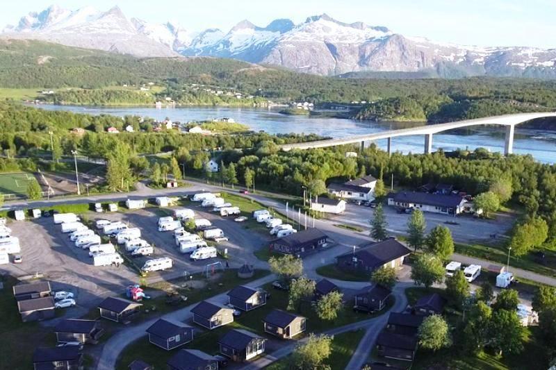 Camping ved Saltstraumen | Bürstner vogn | Camp saltstraumen