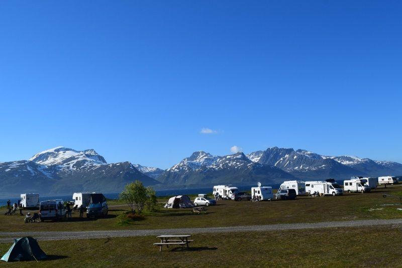 Skittenelv Camping kampeerplaatsen