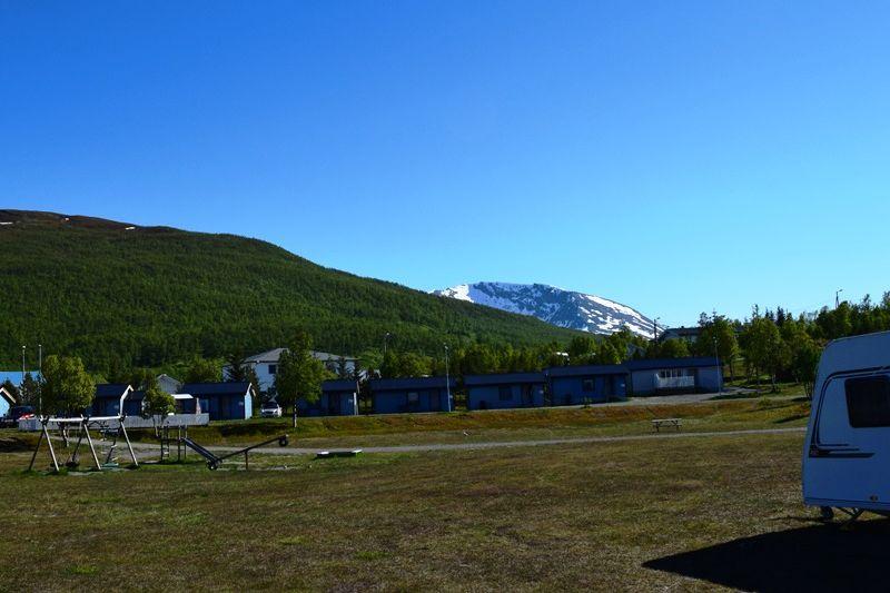 Skittenelv Camping, Krokelvdalen, Tromsø, Troms, Norge MT