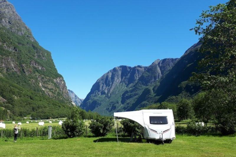Vang Camping Gudvangen Ligging en uitzicht